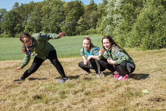 Patrulje Røyskatt fra Elverhøy KFUK-KFUM-speidere