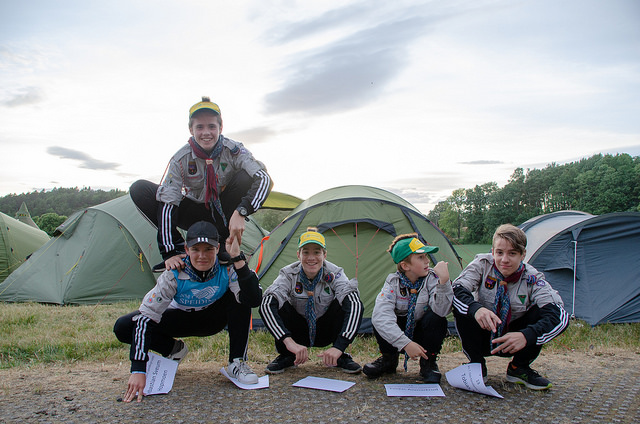 Patrulje Jerv. Fra venstre: Sebastian Sveum Hopmoen, Håkon Bergh Skard, Julius Tvete, Torjus Anmarkrud, Tobias Tvete Foto: Lars Rorås