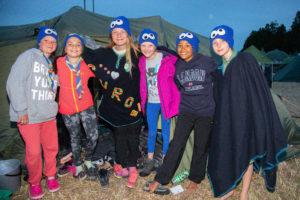 Patrulje Cookie Monsters. Fra venstre: Marta Karen Fjelde Skår (11), Angel Abookersha (11), Guro Bergsager (12), Ingrid Alvilde Nordland (11), Astrid Charlotta Lidagran (11), Joakim Auestad (11) Foto: Daniel Widnes